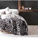 EnLora Home King Quilt Cover Set, Black/White, 240 x 220 cm, 162ELR41279, 3 Pieces