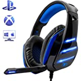 Beexcellent GM-3, Cuffie Gaming Super Confortevole con Microfono e Stereo Bass per Xbox One PS4 PC Smartphone, 3.5mm…