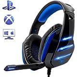 Beexcellent GM-3, Cuffie Gaming Super Confortevole con Microfono e Stereo Bass per Xbox One PS4 PS5 PC Smartphone, 3.5mm…