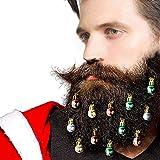 Bouder Bartschmuck, 12 Stück, bunte Weihnachtszwiebeln, Kugeln, einfache Befestigung an Schnurrbart für Herren