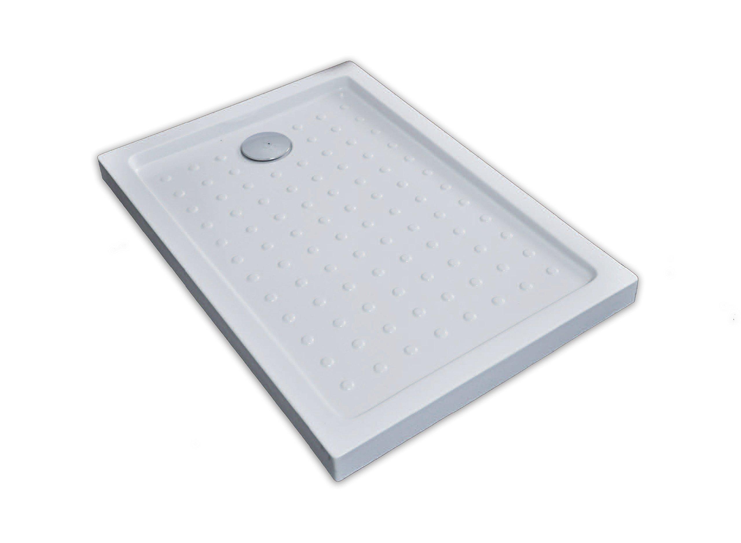 The Living Design Setubal – Plato de ducha acrílico (poliéster, 160 x 70 x 6 cm) color blanco