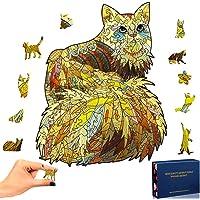 SPECOOL Puzzle en Bois Chat doré Puzzle 3D Coloré Unique Forme Animale Pièces de Puzzle Puzzle en Bois Meilleur Cadeau…