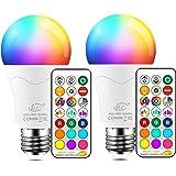 iLC Lampadine Colorate Led RGBW Cambiare colore Lampadina E27 Edison RGB LED Lampadine Led a Colori Dimmerabile Telecomando I