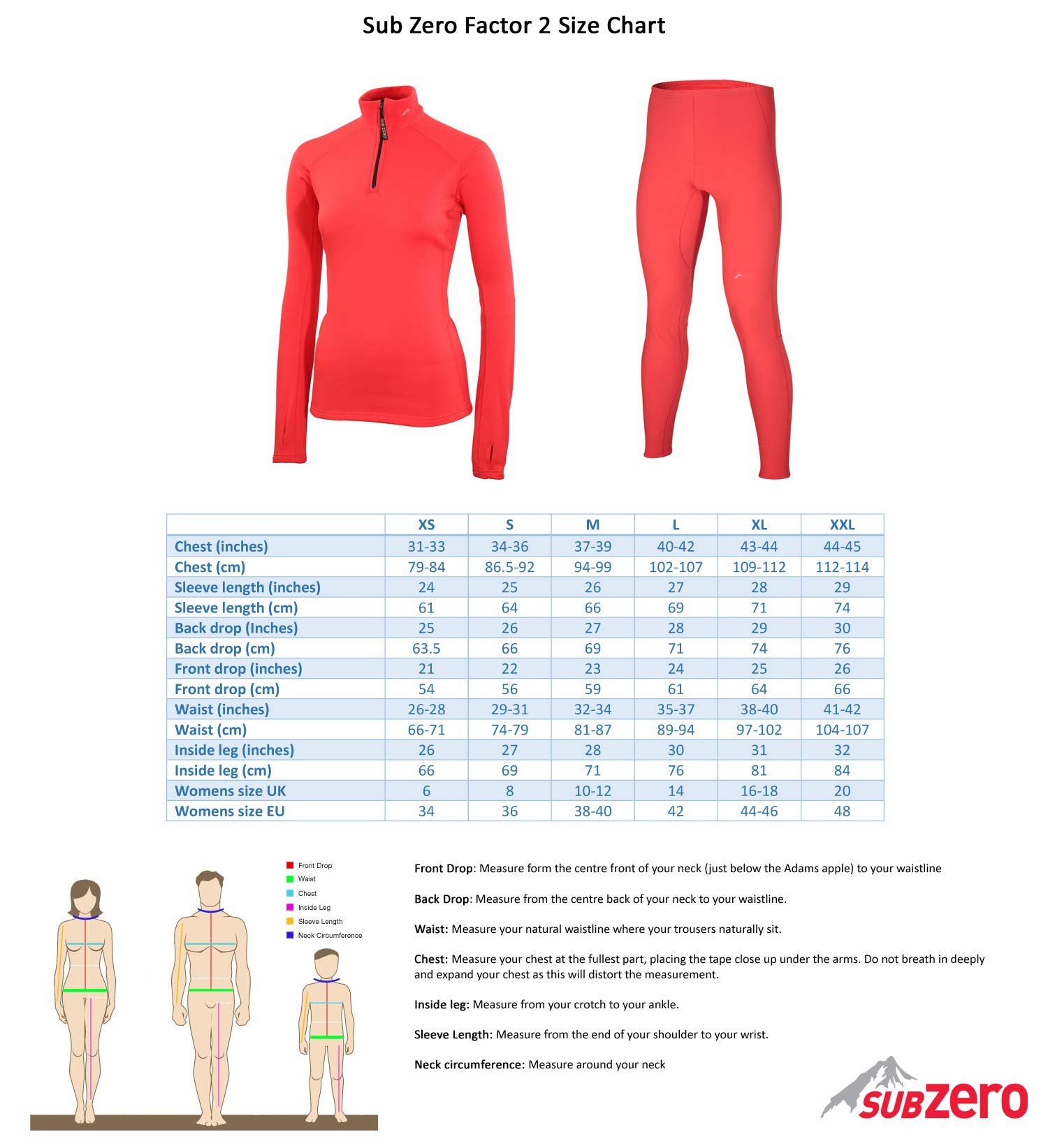 71YPjayofjL - SUB ZERO Womens Factor 2 Insulating Winter Mid Layer Thermal Underwear Zip Neck Turtle Long Sleeve Top