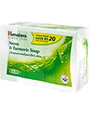 Himalaya Herbals Neem and Turmeric Soap, 125gm (Pack of 4) with Value Pack Save Rs.20