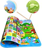 Piesome Double Sided Water Proof Baby Mat Carpet Baby Crawl Play Mat Kids Infant Crawling Play Mat Carpet Baby Gym Water…