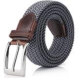 Elastic Braided Belt, Fairwin Unisex Men Women Braided Elastic Stretch Woven Belt for Jeans, Trouser