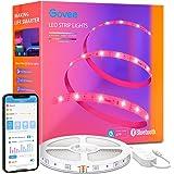 Govee Ledstrip, 5 m, Bluetooth RGB ledstrip, kleurverandering, muzieksync, 64 scènemodus, bestuurbaar via app-bediening, en b