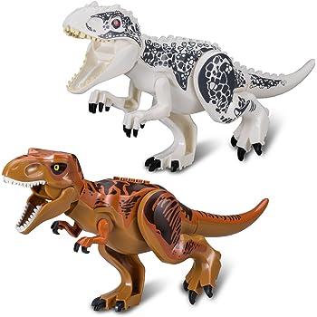 3 x miniatures de dinosaure squelette Spinosaurus Brachiosaure un Vélociraptor NEUF