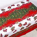 PUBMIND - Mantel de Navidad, camino de mesa rectangular, con estampado de campanas, perfecto para decoraciones navideñas, 177