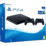 Sony PS4 1TB Slim Console (Free Games: Bloodborne - Game of the Year Edition, DS4, Black)