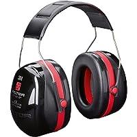 3M Peltor Optime III Kapselgehörschutz schwarz-rot – Größenverstellbare Ohrenschützer mit Doppelschalentechnologie für max. Dämpfung – SNR 35 Hörschutz auch bei sehr hohen Lautstärken