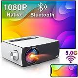 "Beamer Full HD Wifi Bluetooth, Artlii Enjoy3 Native 1080p Mini Beamer, 2.4G/5.0G WiFi Projector, Dolby Stereo, Max 300"" Scher"