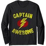 Vintage Captain Awesome Manche Longue