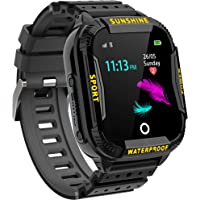 Kinder Intelligente Uhr Wasserdicht, Smartwatch WiFi Tracker mit Kinder SOS Handy Touchscreen Spiel Kamera Voice Chat…
