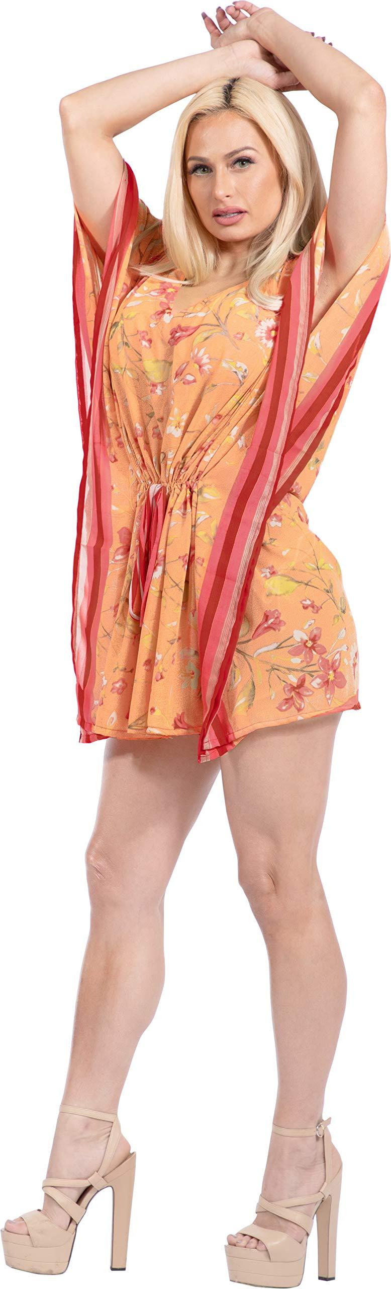 LA LEELA Abito Kimono Abbigliamento Casual Kaftano Top Costume da Bagno Cover up Spiaggia Estiva per Le Donne 4 spesavip