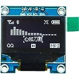 IZOKEE 0,96 Zoll I2C IIC 12864 128X64 Pixel OLED LCD Display Modul SSD1306 Chip 4 Pin für Arduino Display Raspberry Pi 51 Msp420 Stim32 SCR Mikrocontroller (Packung mit 1, Weiß-IIC)
