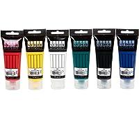 Sudor peinture acrylique, kit de 6 couleurs 75 ml., bois, pierre, aérographe, toile peinture, pour enfants, peintres et…