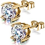 HighSpark Silver Solitaire Earrings for Women | 92.5 Sterling Silver & Pure Brilliance Swarovski Zirconia for that Stunning S