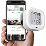 FreeLeben Inalámbrico Termómetro Higrómetro Mini Bluetooth 5.0 Interior Sensor De Temperatura De Humedad con Exportación De D