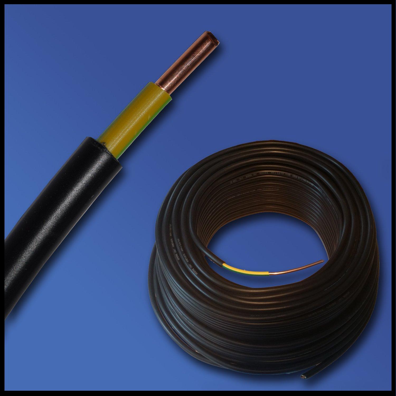 Erdungskabel - Erdkabel - NYY-J 1x16 mm² - schwarz - große ...