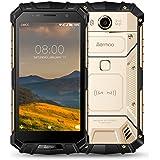Telephone Incassable, Aermoo M1 Double SIM 4G Smartphone débloqué Etanche IP68, Android 7.0 Téléphone Portable Debloqué 5.2 FHD Helio P25 Octa-Core 6G RAM+64G ROM, 8.0MP+21.0MP 5580mAh, Fingerprint-Or