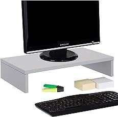 CARO-Möbel Monitorständer Schreibtischaufsatz Bildschirmerhöhung Monitor, 50 x 10 x 27 cm (B x H x T)