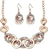 YouBella Jewellery Sets for Women Crystal Studded Necklace Jewellery Set with Earrings for Girls/Women
