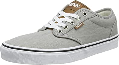 Vans Men's Atwood Canvas' Trainers, Grey Enzyme Wash Drizzle White W58, 8 UK