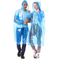 Alfachy Pack of 5 Very Thick & Disposable Rain Poncho for Adults Emergency Waterproof Poncho, Ideal for Festivals…