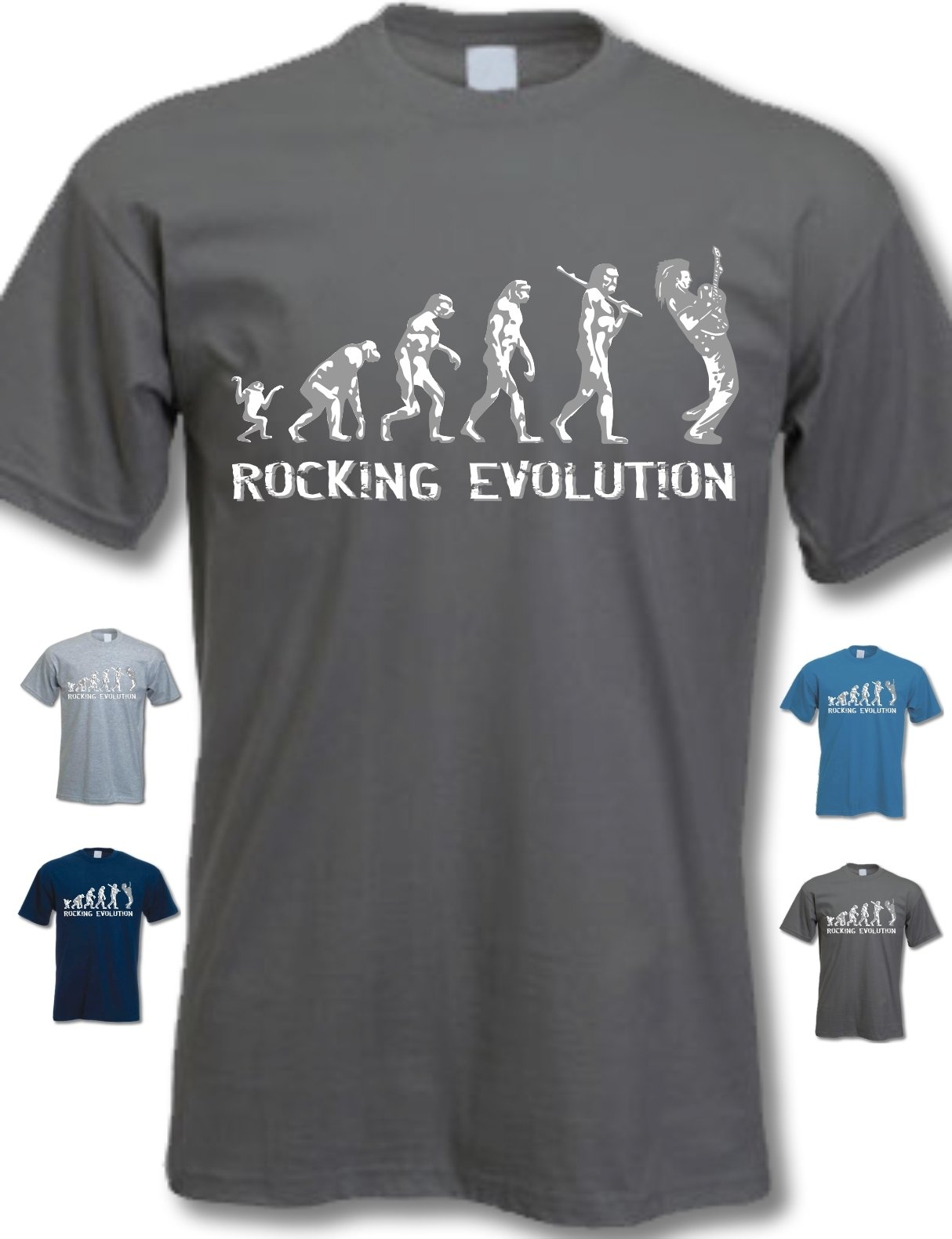 Rocking Guitar Player Evolution – Funny Music Guitar Band Gift Mens T-Shirt