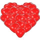 Premium Herzluftballons Rot 50 Stück. Luftballon Herzen, XL Größe. Die Ballons dienen als als Deko für Geburtstag, Party usw.