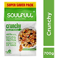 Soulfull Millet Muesli - Crunchy, Contains Almonds & Raisins- 700g