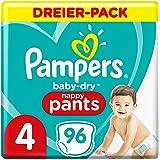PAMPERS Pantalon Baby-Dry Couches Taille 4 pour 9 kg-15 kg 96 Unité