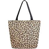 ALAZA Einkaufstasche für Damen und Mädchen, Motiv: Drache, Reptilienfisch, Schlangenhaut, Segeltuch, Rot und Gold