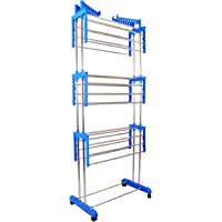 ANIREN PRIMIUM QUALATY 3 Layers Foldable Cloth Drying Stand - Stainless Steel Pipe - Aniren Model No. -Anrn04