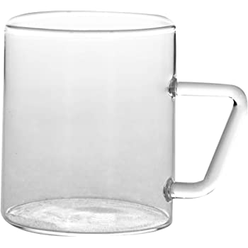 Borosil Vision Classic Mug Set, 190ml, Set of 6, Transparent