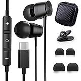 Tipo C Auricolari, TUBhanggai USB C In-Ear Hi-Fi Stereo Cuffie, USB C Auricolari cablati con microfono e controllo del volume
