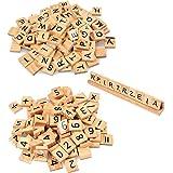 Letras de Madera Escarabajo Juego de Mesa 201PCS Letras de Alfabeto de Madera para scrabble Letras Madera para scrabble Artes