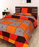 Genius Homes Cotton Single Bedsheet with One Pillow Cover