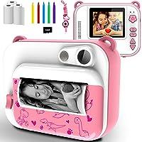 Appareil Photo Enfants à Impression Instantanée avec Papier d'impression, Caméra Jouet Numérique 1080P HD avec écran de…