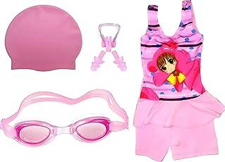 Golden Girl Girls Swimming Kit (Pink_8-9 Years)