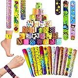 Klap Armbanden SPECOOL 55Pcs Klap Polsbanden voor Kinderen Feestzakvullers met Hartjes Dier voor Meisjes & Jongens Verjaardag