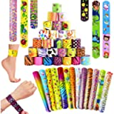 SPECOOL Braccialetti Slap 55Pcs Slap Bracelets Gadget Bracciali a Scatto, Bomboniere Party Supplies Favors per Bambini…
