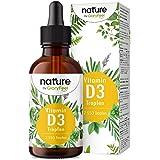 Vitamin D3-Droppar - 5000 I.E. per 5 Droppar - 75 ml (2550 Droppar) - Högkoncentrat och Hög Biotillgänglighet - I MCT-Kokosnö
