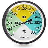GALAFIRE 68 mm Termometri per Barbecue, Gambo Extra Lungo da 75mm, Calibro Temperatura per arrosto Barbecue Fumatore Grill, L