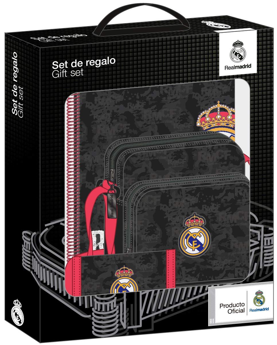 Real Madrid Black Oficial Set de Regalo 280x60x350mm