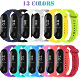 Mardozon 13 Colors Straps for Xiaomi Mi Band 3 or 4 Fitness Bracelet Soft Silicone Sport Wristband WatchBand for Mi Band…