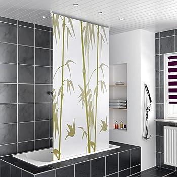 homelux duschrollo duschvorhang bad deckenbefestigung halbkassette seitenzug links oder rechts. Black Bedroom Furniture Sets. Home Design Ideas