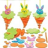 """Baker Ross Bastelsets Stapelanhänger """"Hasen"""" (6 Stück) – Bastelidee zu Ostern für Kinder zum Zusammensetzen und Dekorieren"""